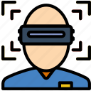 immersion, reality, virtual, vr icon