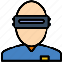 headset, reality, virtual, vr icon