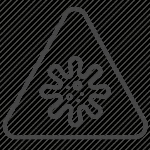 Alert, anti bacteria, bacteria, dirty, microorganism, virology, virus icon - Download on Iconfinder
