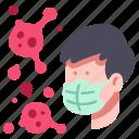 corona, flu, infection, mask, medical, protection, virus icon