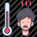 disease, fever, flu, medical, patient, sick, virus icon