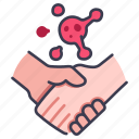 bacteria, hand, health, hygiene, injection, protection, virus icon