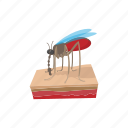 cartoon, disease, illustration, insect, mosquito, parasite, zik icon