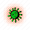 biology, cell, comics, health, medicine, syndrome, virus icon