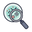 bacteria, cells, corona, coronavirus, lab, laboratory, research icon