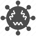 bacteria, infection, microbe, virus icon