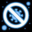 diagnosis, signaling, forbidden, scientist, no, bacteria icon