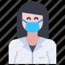 avatar, doctor, girl, medical, profession