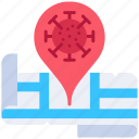 corona, location, map, pin, virus