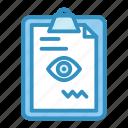 clipboard, medical, optometry, prescription, vision