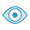 eye, medical, optometry, see, view, vision icon