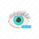 cartoon, eye, health, medical, minus, myopia, vision icon