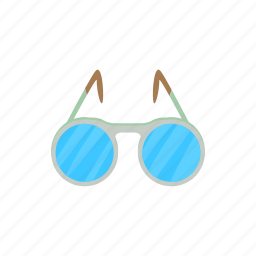 cartoon, eye, glass, optical, spectacle, vision, white icon