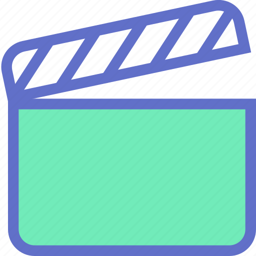 clapperboard, film, movie, player, shoot, video icon