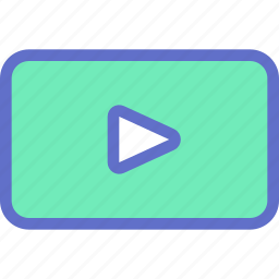 audio, movie, play, player, start, video icon