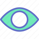 eye, look, preview, video, view, visual icon
