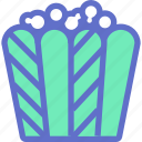 cinema, corn, fastfood, film, popcorn icon
