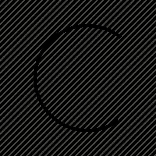 c, components, letter, semicircle, vitamin c, vitamins icon