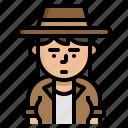 archaeologist, avatar, character, explorer icon