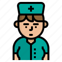 avatar, character, nurse, vocation icon
