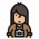 avatar, character, photographer, vocation icon
