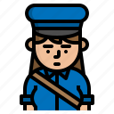 avatar, character, postman, vocation icon