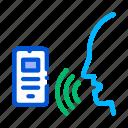 control, mobile, smartphone, voice icon
