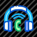 calling, headphones, system, voip