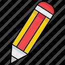 draw, edit, fill in, pencil, write icon, pen, writing