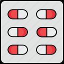 capsule, doctor, drug, medicine, pill, treatment icon