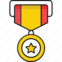 award, medal, prize, victory, win, winner icon, achievement