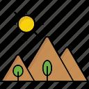 mount, nature, peak, tourism, travel icon, environment