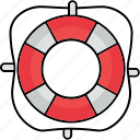 flotation ring, life saver, lifebuoy, lifebuoy ring, marine, swim icon