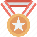 award, medal, reward, star medal, winner icon