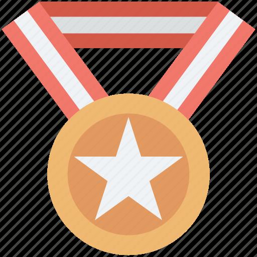 award, medal, reward, star medal, winner icon