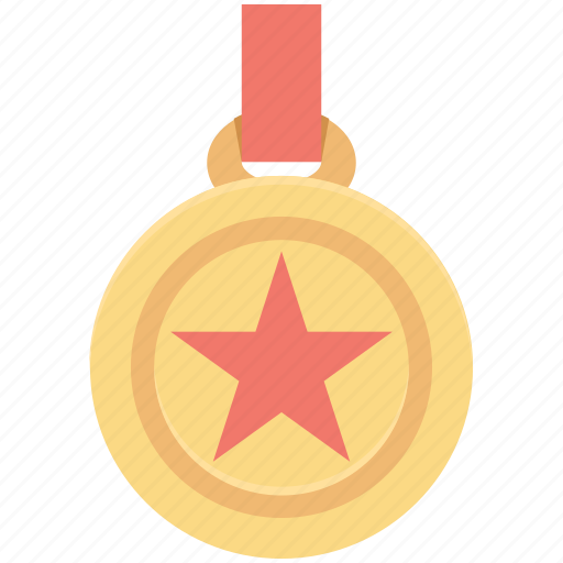 first position, medal, position medal, prize, star medal icon