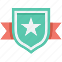 award, badge, reward, ribbon badge, star badge icon