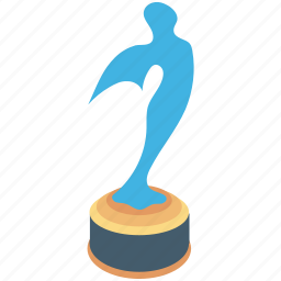 actor award, cinema award, movie award, reward, star award icon