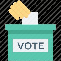 ballot box, elections, survey, vote, voting poll icon