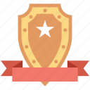 badge, emblem, honor, rank, shield icon