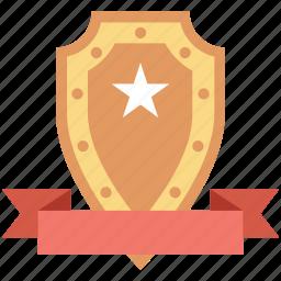 badge, emblem, honor, rank, shield icon