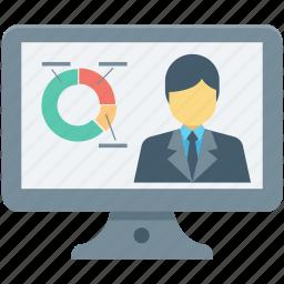 analysis, analytics, economist, pie chart, statistics icon