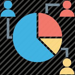 analysis, analytics, pie chart, pie graph, stats icon