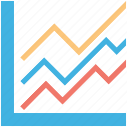analytics, chart, graph, infographic, line graph icon