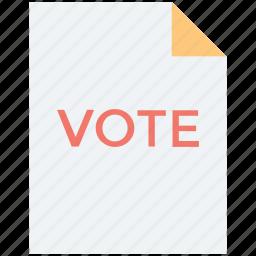 elections, referendum, survey, vote, voting poll icon