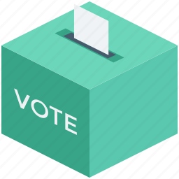 ballot box, elections, survey, vote, voting poll icon