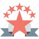 award, prize, rank, rating, star badge icon