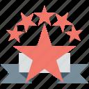 award, prize, rank, rating, star badge