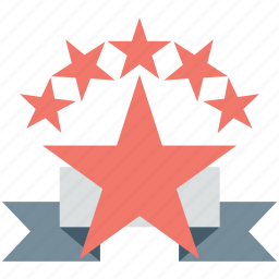 award, prize, rank, rating, star badge icon