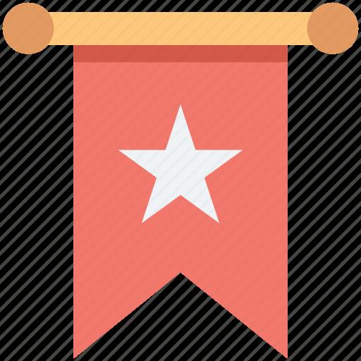 bookmark, favorite, mark, ribbon, star icon